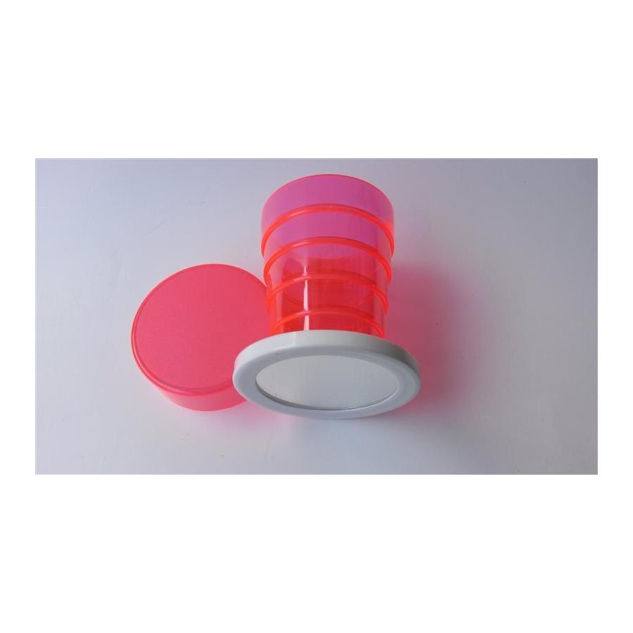 klappbecher mit spiegel transparent rot 4 50. Black Bedroom Furniture Sets. Home Design Ideas